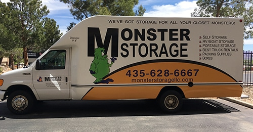 Monster Storage truck in St. George Utah